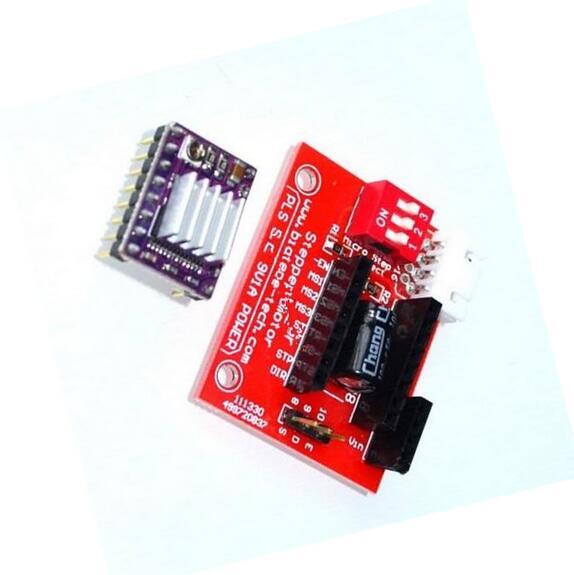 3d-drucker Schrittmotor Fahrer Control Board Erweiterungsplatine Mit Drv8825 Schrittmotortreiber Mit Kühlkörper Für 3d-drucker