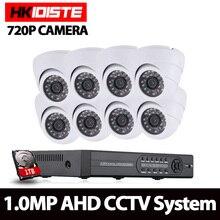 8CH CCTV System 8CH 720P DVR 8PCS 1 0MP IR indoor CCTV Camera 2000TVL Home Security