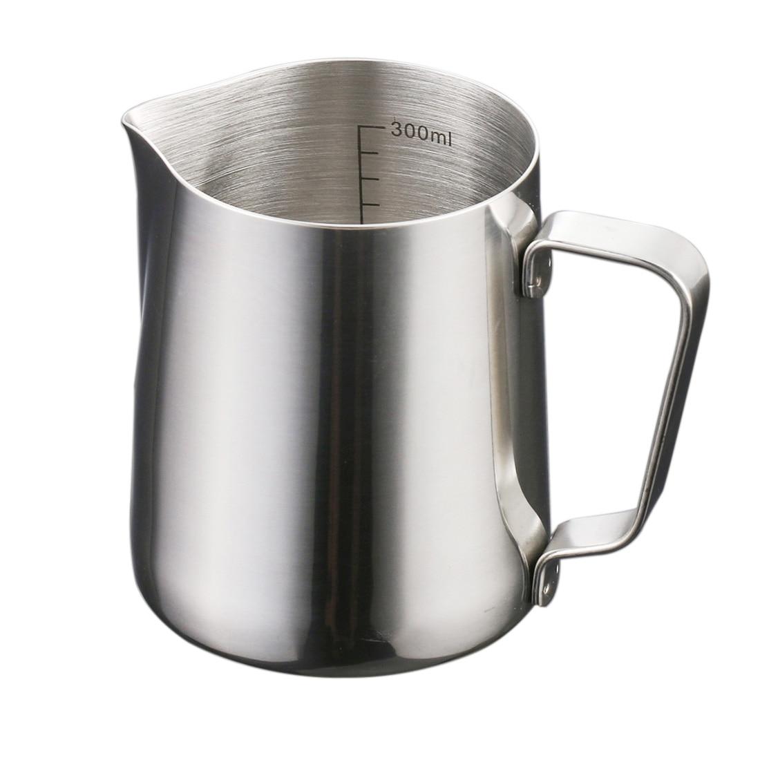 300ml Milk Jug Metal Stainless Steel Garland Coffee Cup Fancy Italian Espresso Latte Art Milk Frothing Pitcher Steaming Jug Cups