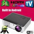 2800 люмен 1080 P android-wifi цифровой жк-full HD из светодиодов 3D домашний кинотеатр тв-проектор Projektor видео лучемет