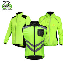 WOSAWE Cycling Jacket Men's Windbreaker Windproof Waterproof Breathable Light Weight Bike Riding Jacket Vest Men Reflective Coat(China)