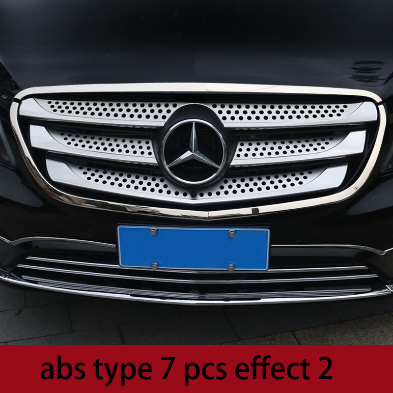 lsrtw2017 stainless steel car front grill net trims for mercedes benz vito 2014 2015 2016 2017 2018 2019 w447 цена