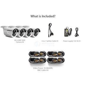 Image 2 - 4Ch AHD caméra de vidéosurveillance Kit de système de sécurité étanche 4x1080P 2.0MP caméras de sécurité IR vision nocturne ensemble de Surveillance extérieure