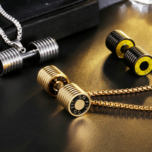 Pendant necklace US7 dumbbell