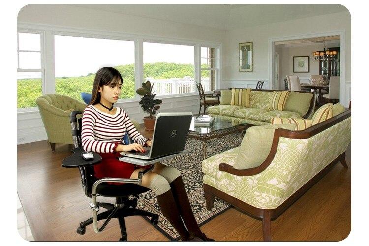 Multifonctionnel plein mouvement chaise de serrage clavier/bureau d'ordinateur portable titulaire + carré tapis de souris + chaise bras de serrage tapis de souris OK010S - 6