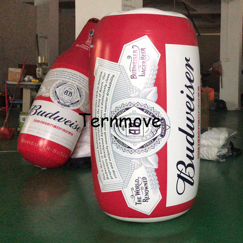 inflatable PVC wine can tin bottle customized replica advertising product inflatable Bottled coffee with logo ac028 factory price giant inflatable advertising new customized replica product