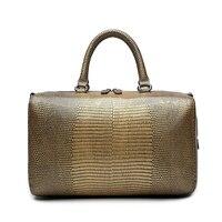 Luxury designer Genuine Leather handbags women Snake tote office Bucket Bag ladies hand bags for Female shoulder Bag sac femme