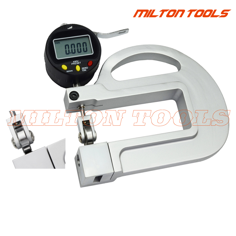 High Quality Digital micron Thickness Gauge With Roller Insert Measuring tool 0 001mm