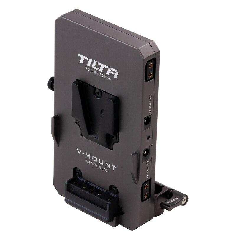 Tilta TA-BTP-V-G 15mm LWS Rod Adapter V-Mount Battery Plate For Powering The BMPCC 4K Camera