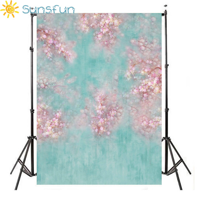 Sunsfun Customized Thin Vinyl Photography Backdrops Digital Printing Newborn Background floral photo Backdrop HB153 200x400cm 7x14ft photo background studio vinyl backdrop screen digital printing newborn photography props f342