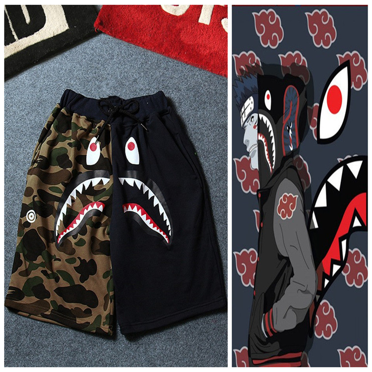 Zogaa 2019 Summer Original Street Fashion Shark Men's Casual Knee Length Pants Camouflage Sports   Shorts   Couple Beach Male   Shorts