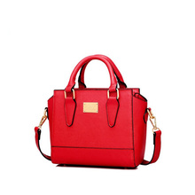Exquisite Simple Designer font b Handbag b font 2016 New Ladies Small Plain Shoulder Bag Solid