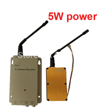 Zangão FPV 5 W 1.2G CCTV transmissor av transmissor 1.2G transceptor 1.2G De Áudio E Vídeo transceiver cctv camera transmissor