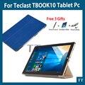 Высокое качество Ультра-тонкий Кожаный PU Чехол Для Teclast Tbook10 Tbook 10 S 10.1 дюймов Tablet PC защитная крышка + бесплатная 3 подарки