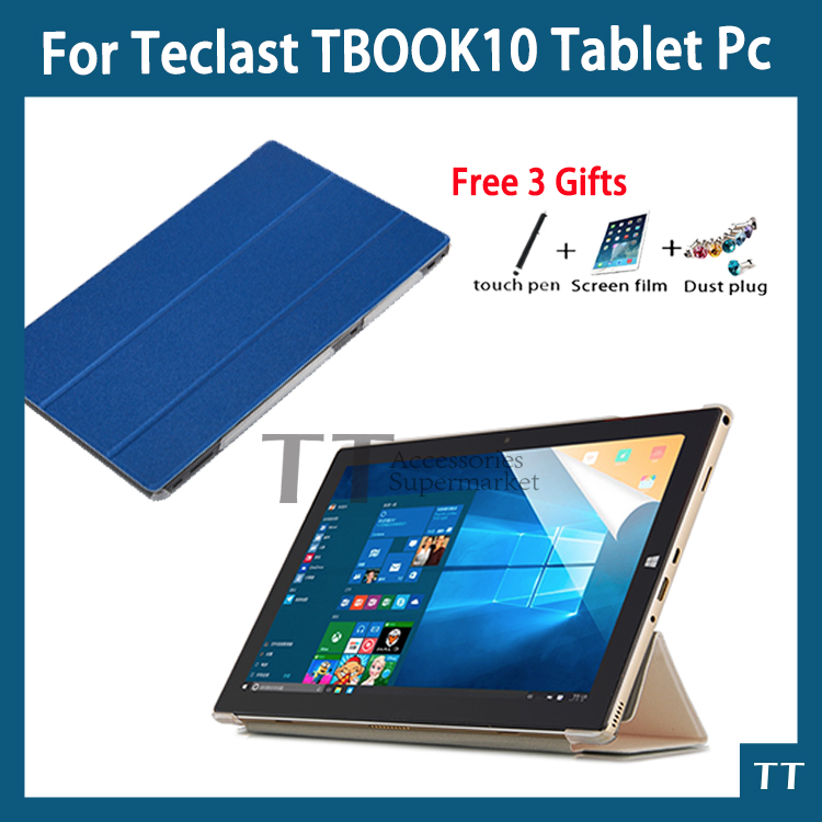 High quality Ultra-thin Leather PU Case For Teclast Tbook10 Tbook 10S 10.1 inch Tablet PC protective cover + free 3 gifts bluetooth keyboard for teclast x10 quad core tablet pc 98 octa core tbook10 tbook 10s case wireless keyboard android windows 10