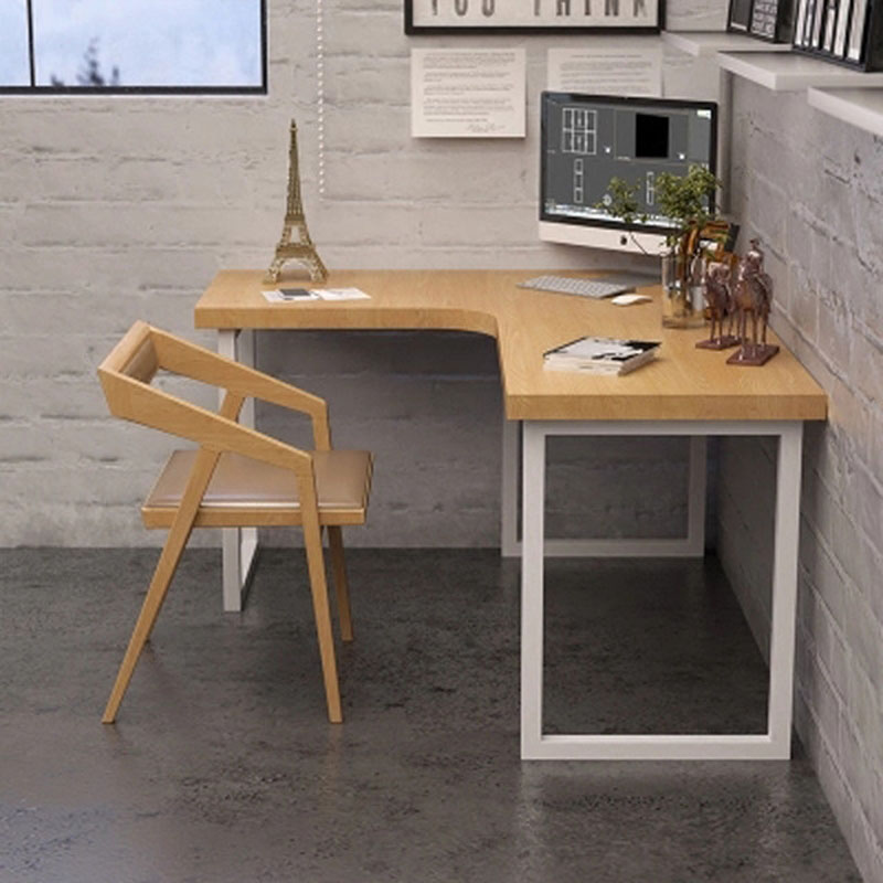 Household small-sized study desk Solid wood L-shaped corner computer desk modern minimalist wrought iron creative desk Стол
