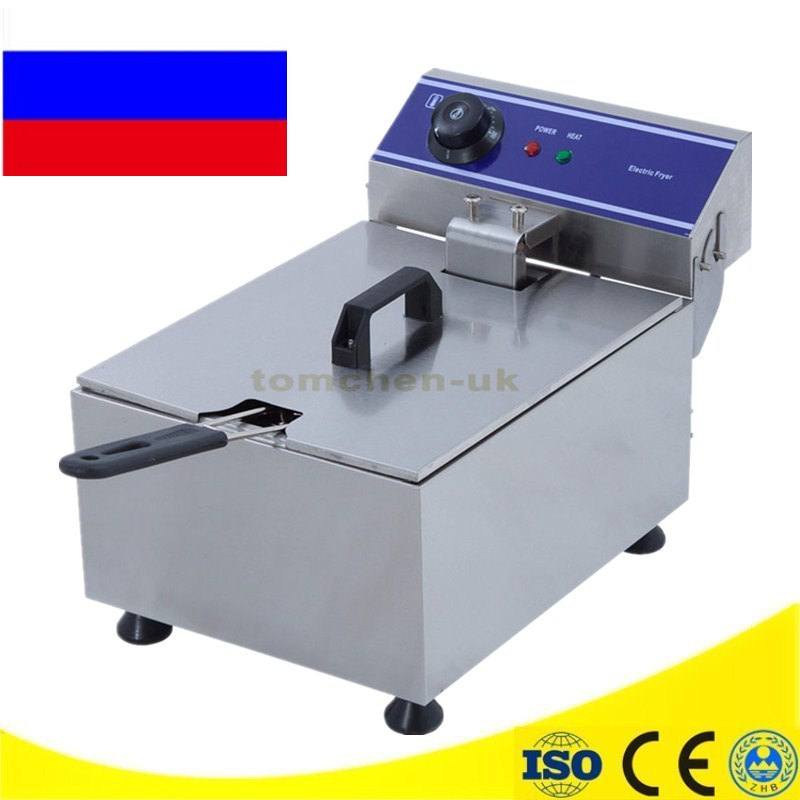 Newest Stainless Steel Electric Deep Fat Fryer Chip Deep Fryer Commercial 10L Basket French Fry Machine 16 liter commercial deep fryer