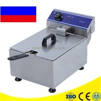 Newest Stainless Steel Electric Deep Fat Fryer Chip Deep Fryer Commercial 10L Basket French Fry Machine