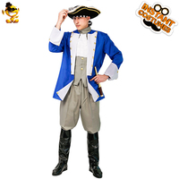 Halloween Adult Colonial General Costumes Masquerade Suit Carnival Party Role Play Luxury Colonial for Men Costumes