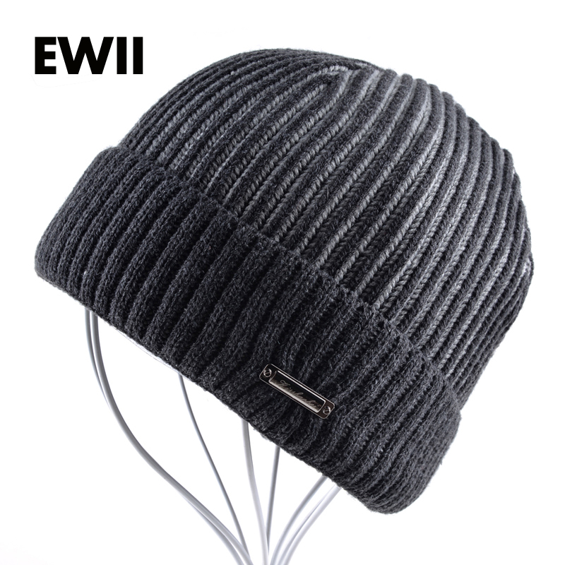 2017 Knitted wool hat men winter beanies cap skullies men striped beanie hats gorro winter wool warm bonnet caps bone men s skullies winter gorros ski wool warm knitted cap beanie headgear hat nap skullies bonnet beanies cap hats for women gorro