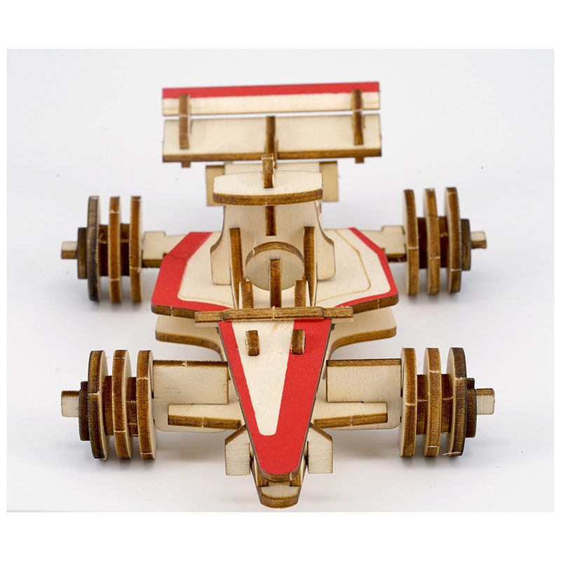 New Assembly DIY Education Toy 3D Wooden Model Puzzles Of Formula Racing Car Home Collection Decoration in Puzzles from Toys Hobbies
