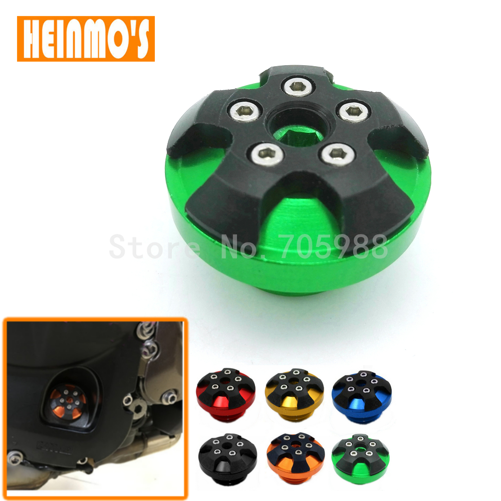 Motorcycle Green CNC Engine Oil Cap Motobike magnetic engine oil filler cap For KAWASAKI Z800 Z1000 For TMAX-500 TMAX 530 цена и фото