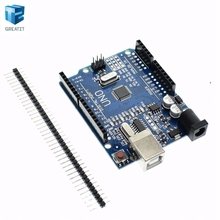 1pcs Smart Electronics high quality UNO R3 MEGA328P CH340G  Compatible NO USB CABLE for arduino