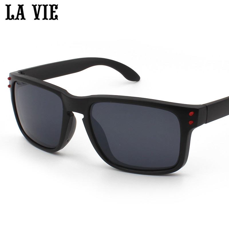 LA VIE Men Driving Solglasögon Spegel Svart Super Light Eyewear Man Sun Solglasögon UV400 Oculos de sol feminino LV0709