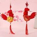 1 UNID Nuevo Viento de China 8 cm Pequeño Colgante de Pollo Gallo De Peluche polla Pequeña Muñeca de Peluche de Juguete de Regalo Decoración Colgante de regalo de Boda Del Juguete regalos
