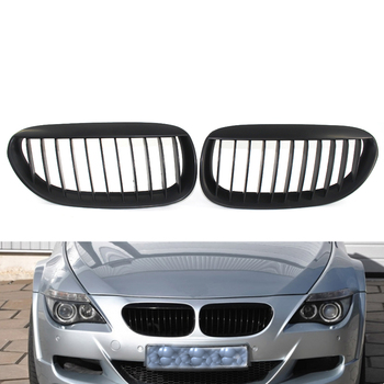 Front Grille Grill for BMW 6 Series E63 E64 LCI M6 650i 645CI Matte Black coupe Convertible 2 Door 51137077932,51137077931 image