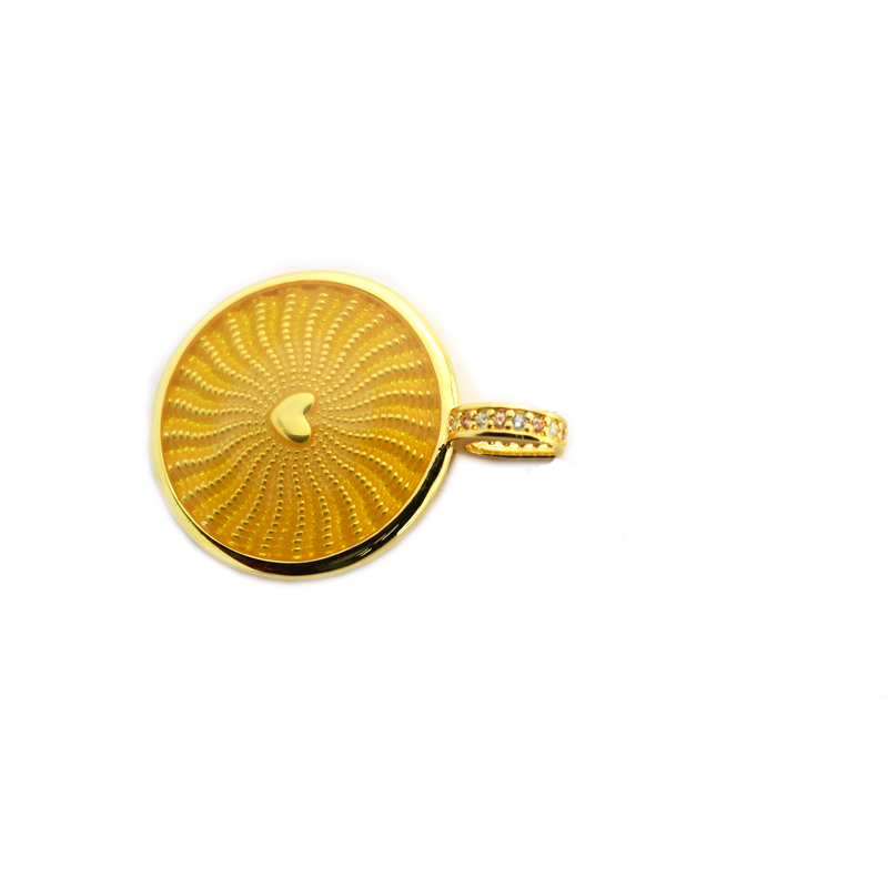 Pandulaso Rays of Sunshine Necklace Pendants New Spring Golden Plated Heart DIY Jewelry Fashion Silver Necklaces Pendants Women