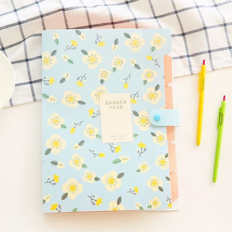 Coloffice A4 Document Production-Folder Filing Mezzanine-File Floral School 1PC Fresh