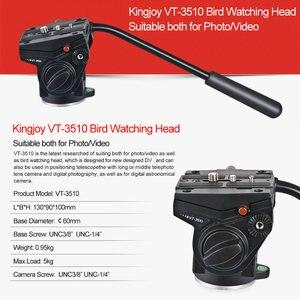 Image 5 - Kingjoy Officiële VT 3510 Panoramische Statiefkop Hydraulische Vloeistof Video Hoofd Voor Statief Monopod Camera Houder Stand Mobiele Slr Dslr