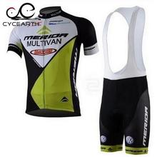 2016 merida summer cycling clothing bicycle jersey cycling bib shorts set with gel pad free shipping