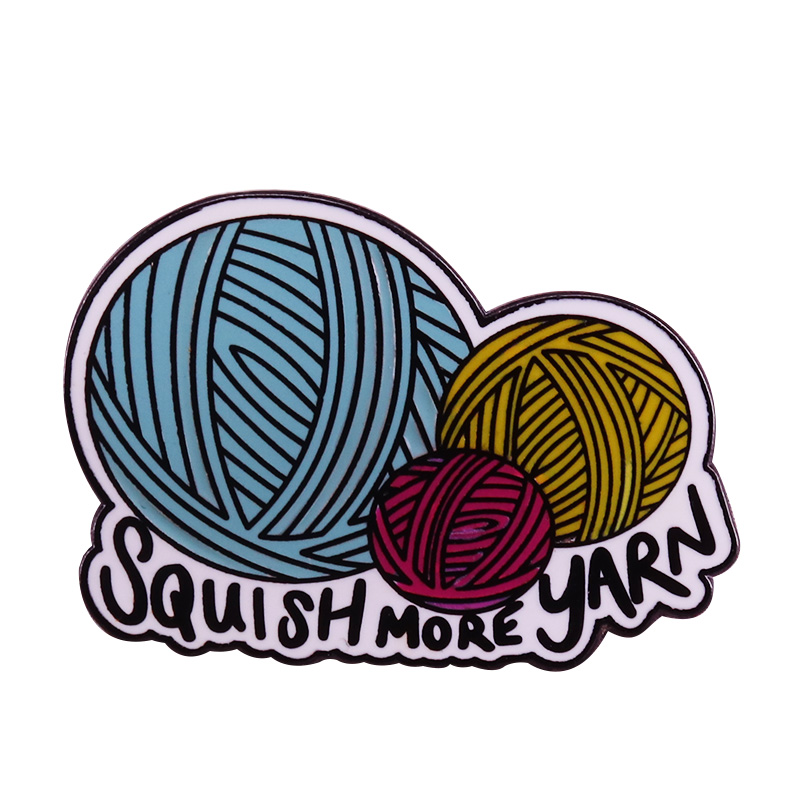 Cheap Sale Squish More Yarn Brooch Crochet Knit Pin Lovely Craft Accessory Creative Knitters Flair Badge Gift Brooches