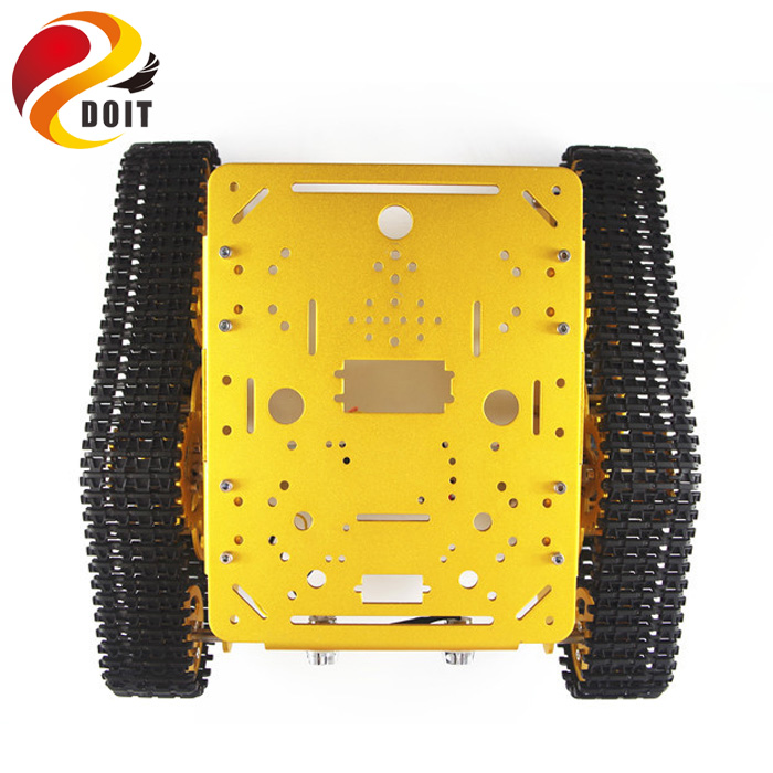 Original DOIT T300 RC Metal Robot Tank Car Chassis Crawler Tracked Caterpillar Track Chain Vehicle Mobile Platform Tractor Toy