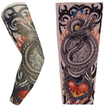 Fashion Design Fake Tattoo Sleeve 1Pcs Men Women Fake Body Art Temporary Tattoo Sleeves Festival Body Arm Leg Halloween Stocking