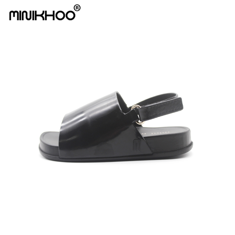 Mini Melissa 2018 New Children Shoes Sandals for Girls Casual Sandals Slip Wear-resistant Children Mini Melissa Beach Sandals