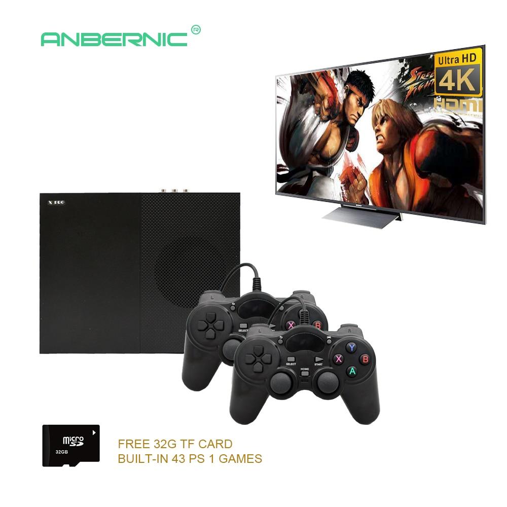 2018 HD Vidéo Jeu Console 64 Bits de Soutien 4 K Hdmi Sortie Rétro 800 classique Famille Rétro Jeux Vidéo À La TV avec 32G TF Carte X PRO