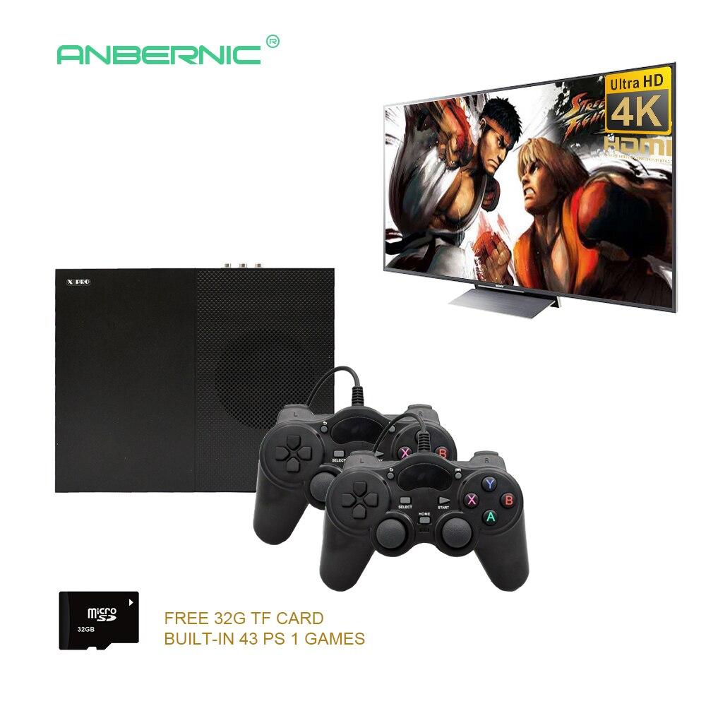 Consola de videojuegos HD 2018 64 bits compatible con 4 K Hdmi salida Retro 800 clásico familia Retro videojuegos para TV con tarjeta 32G TF X PRO