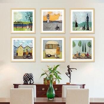 우리는 가족입니다 북유럽 포스터와 인쇄 캔버스 벽 예술 유화 거실 벽 장식 홈 장식 아니 프레임