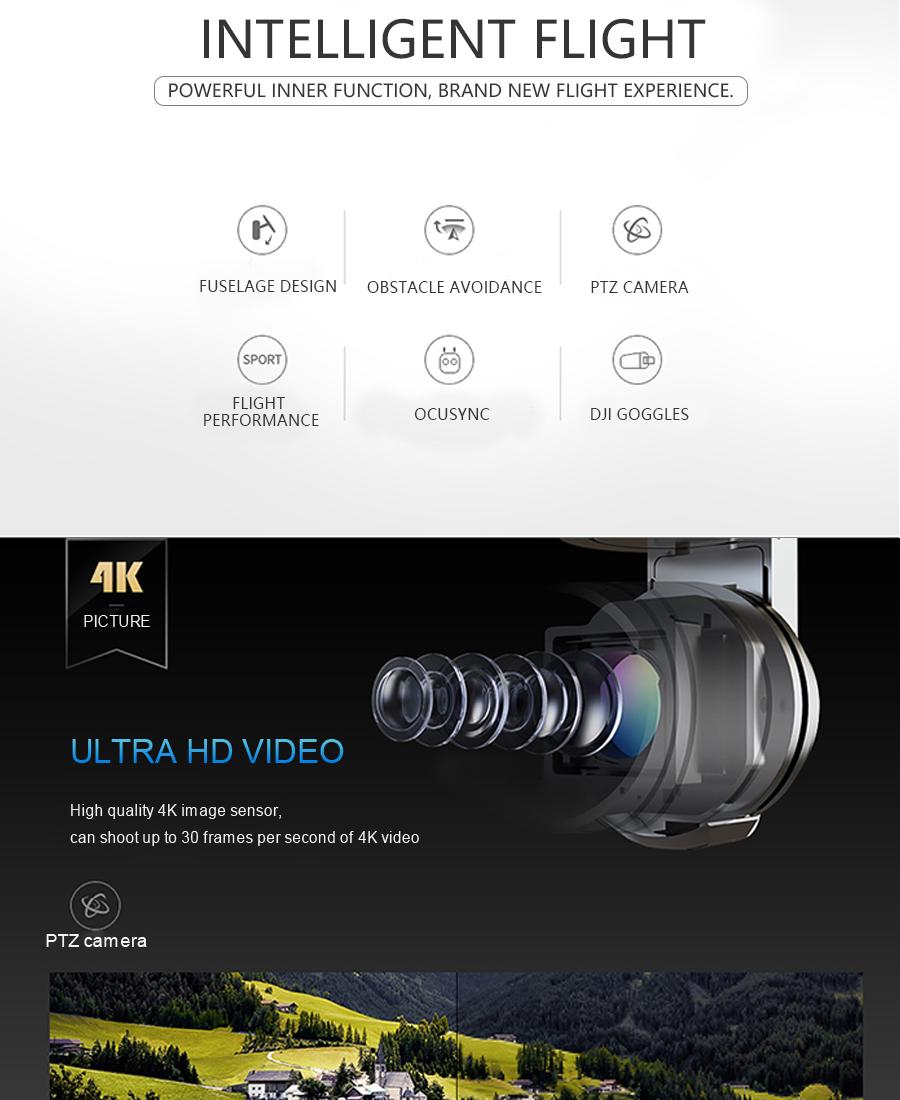DJI Mavic  Fly More Combo with 4K HD Video Recording 30mins Flight time 7km Remote Control dji mavic pro drone_02