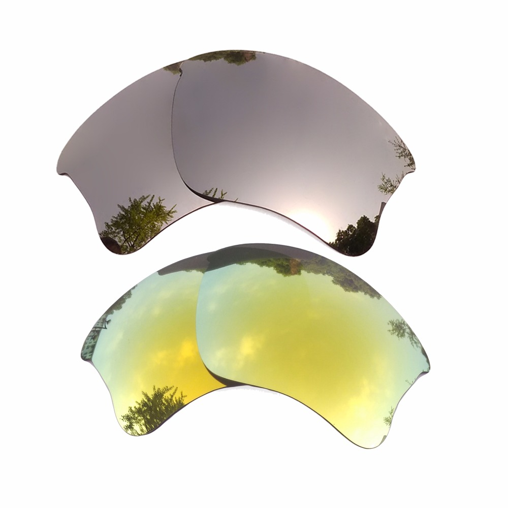 Apparel Accessories Obedient Silver Mirrored & 24k Gold Mirrored Polarized Replacement Lenses For Flak Jacket Xlj Frame 100% Uva & Uvb Bracing Up The Whole System And Strengthening It