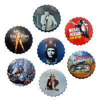 Bottle Cap Metal Tin Signs Beer Cafe Bar Loft Car Decoration Plates Retro Decoration Wall Art Plaques Vintage Home Decor 42cm