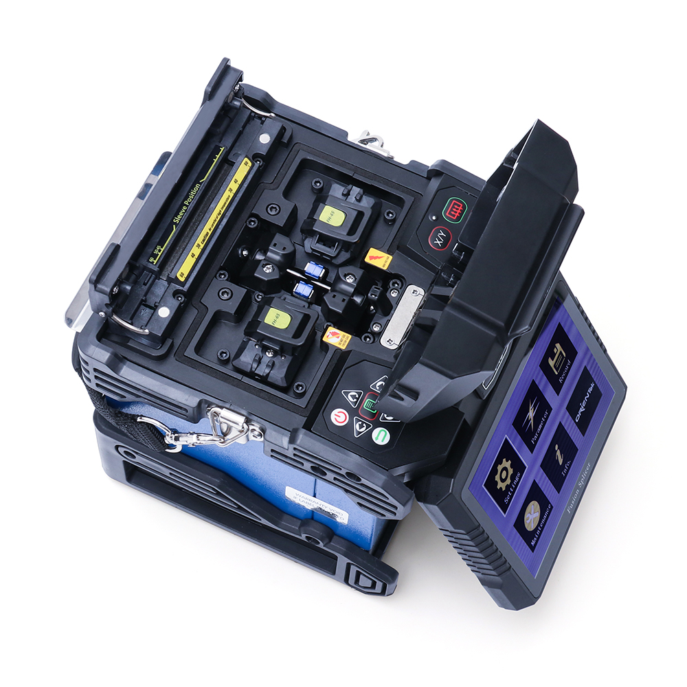 FTTH Optical Splicing Machine Orientek T43 Fusion Splicer Core to Core Optical Fiber Fusion Splicing Machine Free Shipping