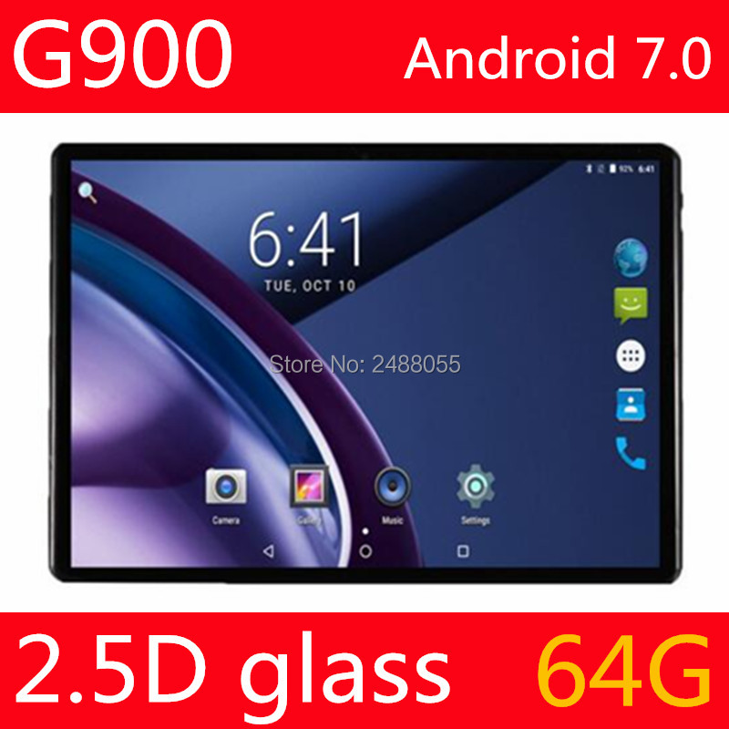 2.5D Glass 10 inch tablet Octa Core 4GB RAM 64GB ROM 3G Phone call 1280*800 IPS Kid Gift Tablets GPS Android 7.0 OS Tablet 10 1 inch android 7 0 tablet pc octa core 4gb ram 32gb 64gb rom gps 1280 800 ips 3g tablets 10 phone call dual sim wifi gps