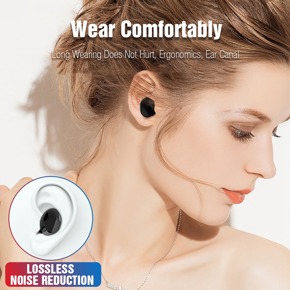S7 Bluetooth TWS Earphones Bass Waterproof Earbuds Portable In Ear Headset Noise Isolating Wireless Earphone for Mobile Phone in Bluetooth Earphones Headphones from Consumer Electronics
