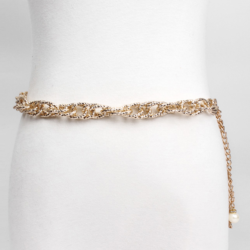 2018 New Gold Thin Metal Belly Chains Fashion Waist Chain Chains Aluminum Necklace Apparel & Accessories For Women