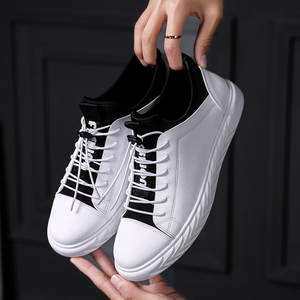 Pu Leather Skateboarding Shoes Man Low-top Boy Sports Flat Footwear Youth  Boots 7f7ecb9b2