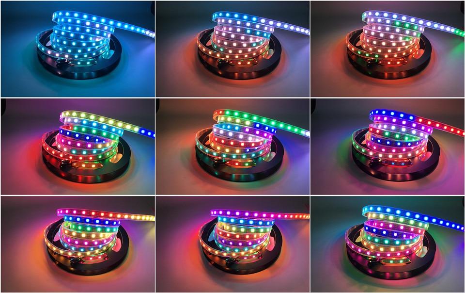 HTB1MEbImRHH8KJjy0Fbq6AqlpXab DC5V WS2812B 30/60/144 leds/m Smartled pixel RGB individually addressable led strip light Black/White PCB IC WS2812 pixel strips